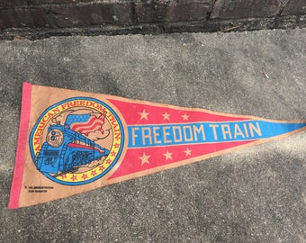 American Freedom Train Pennant - A Bicentennial Celebration