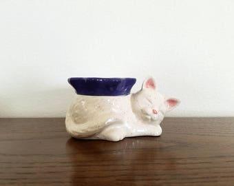 Ceramic Cat Miniature African Violet Pot