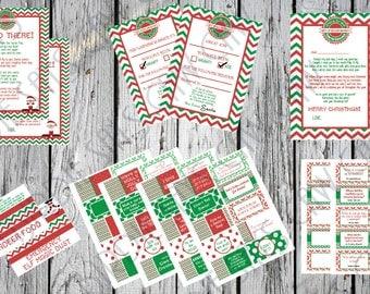 Elf on the Shelf Printable Digital   Elf Kit   Christmas Elf Letter   Elf Welcome Letter   Elf Goodbye Letter   Santa Letter