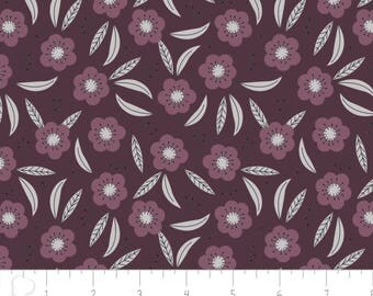 Captivate - Tonal Flower Dark Plum by Alisse Courter from Camelot Fabrics