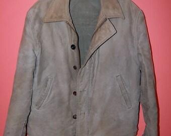 50's Work Jacket Industrial Mechanic Military Style Jacket Vintage Coat