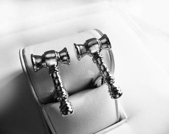 lawyers hammer silver color cufflinks