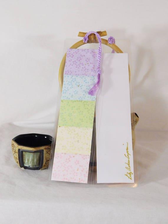 Rainbow Series Japanese Washi Paper Laminated Bookmark with Tassel