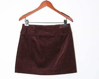 HUGE SALE Vintage 90s Brown mini skirt