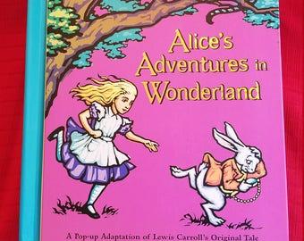 "Pop Up ""Alice's Adventure In Wonderland""     Signed First Addition!"