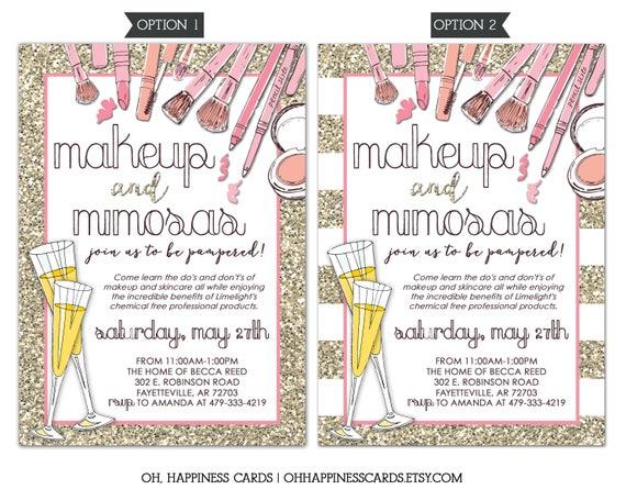 Limelight Makeup Party Invitation Mary Kay Lipsense
