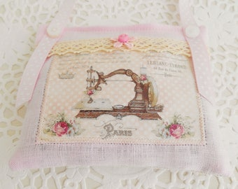 Vintage Inspired Sewing Themed Lavender Sachet/Home Decor