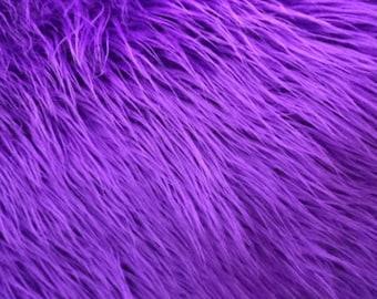 Plush Faux Fur Throw Blanket Bedspread - Mongolian purple