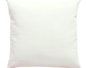 Solid Throw Pillows, White Pillow Cover, White Solid Pillow, Zippered Pillow,  Plain
