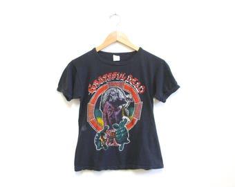 Vintage 1970s Grateful Dead Tshirt   Rare Women's Vintage 1978 Grateful Dead Tour Tshirt   size small - medium