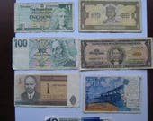 Foreign Paper Currency Notes All Vintage