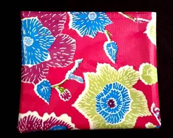 Mod flowers oilcloth case, mini size
