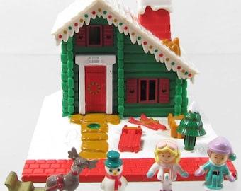 1993 Polly Pocket Vintage Holiday Chalet Ski Lodge Bluebird Toys (39591)