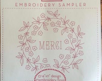 Merci Embroidery by the French General