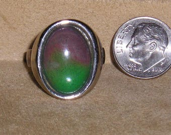 Vintage Original Mood Ring 1970's Works Size 9 Adjustable Jewelry 11218