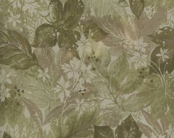 Green Large Leaves, #90221E-G, fromElite by Maywood Studio, Serenity 21 Collection-One Yard Cut