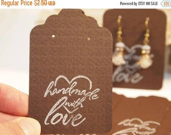 """CIJ Brown Earring Cards Card Stock Paper Earring Cards Heavy Card Stock earring Cards 20 Earring Cards, Supplies  3 1/4 x 2 1/8"""" CKDesigns."""