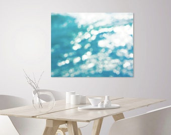 Abstract Photography Wall Art Print | Abstract Ocean Art | Turquoise Ocean Waves Seascape | Coastal Nautical Decor Art | Large Abstract Art