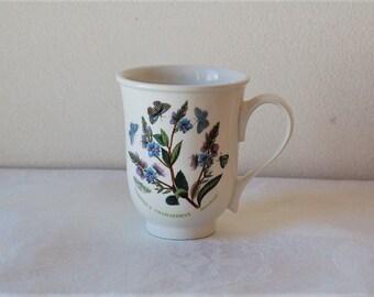 Portmeirion Botanical Garden Beaker Mug  English Veronica or Daisy Susan Williams-Ellis