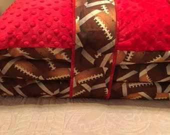 Kindermat / Nap Mat Cover in Football Print
