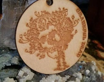 Grateful dead wooden laser cut Bertha keychain or ornament made with lots of love from me to you!