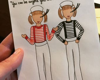 "Mary-Kate and Ashley ""Who Would You Be?"" Greeting Card"