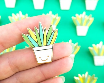 Plant Enamel Pin - Potted Plant Pin - Aloe Vera Pin - Succulent Pin - Crazy Plant Lady - Plant Lapel Pin - Plant Lover