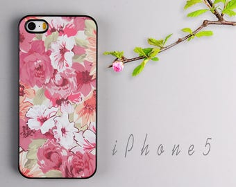 iPhone 5s case iPhone SE cover iPhone 5 skin Vintage Flower - HTPC515