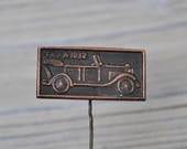"Vintage Soviet Russian copper badge.'"" Soviet Russian car GAZ-A 1932"""