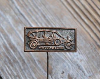 "Vintage Soviet Russian copper badge.""Russian car Russo-Balt"""