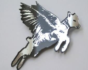 Flying Lamb brooch