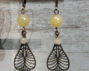 Marseille songo yellow jade Earrings