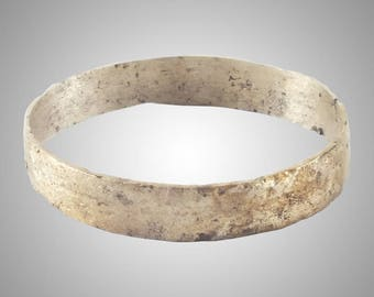 Authentic Ancient Viking  wedding Ring Band  C.866-1067A.D. Size 11    (20.9mm)(Brr1152)