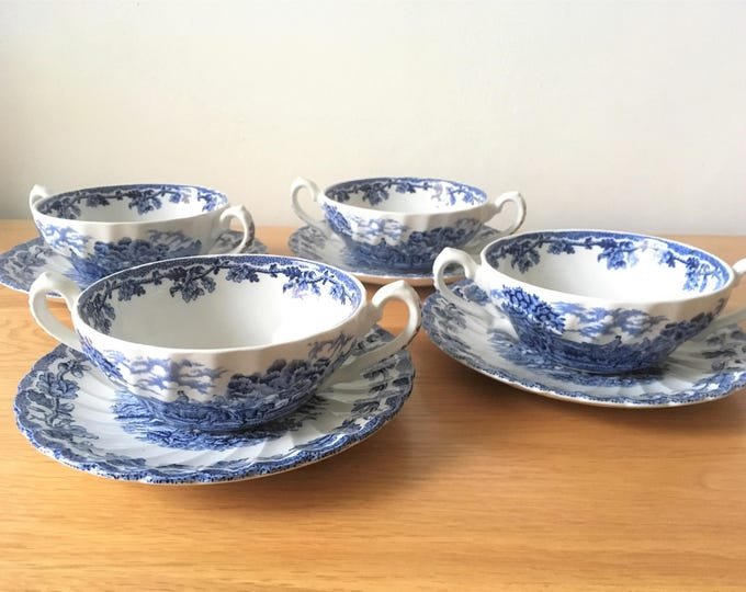 Four Myott Soup Bowls