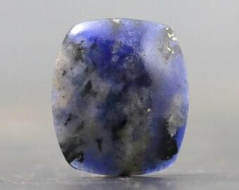 Sapphire Healing Stone Gemstone Cabochon Silversmithing Meditation Luck Wisdom Optimism Friendliness Generosity Love Loyalty (CA9187)