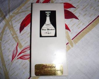 Vintage Shefford Set Of Four Porcelain Wine Markers, Made In Japan