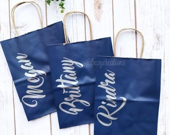 Personalized gift bags | Bridesmaid gift bags | Thank you bag | Bridal Shower Gift Bag | Bachelorette Party Gift Bags | Custom Gift Bag MB