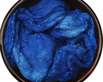 Handpainted Silk Hankies Mawata - Silk spinning / knitting / felting fiber, 12 g - Aoede