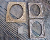4 Pressed Embossed Brass Frames for Antique Daguerreotype Tin Type Photos