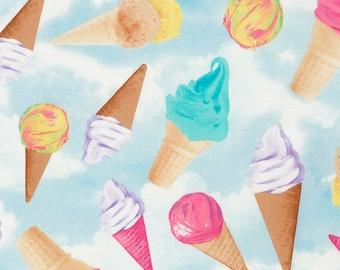 Tossed Ice Cream Cones from Timeless Treasures Fabrics
