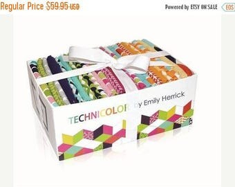 SUMMER SALE Fat Quarter Box - Technicolor Collection - 25 Fat Quarters from Michael Miller by Emily Herrick