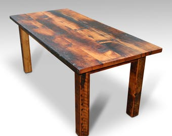 "4 Foot (48"") Rustic Square Leg Farm Table"