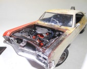 ClassicWreck,ChevyImpala,ScaleModel,OOAK,124Scale,RustedWreck,RatRod