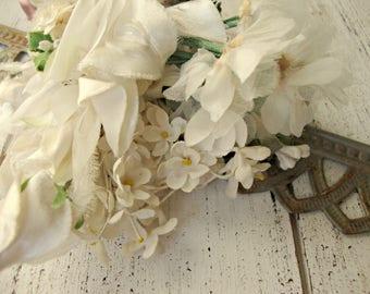 Antique Vintage Velvet Millinery Flowers Posy - #300