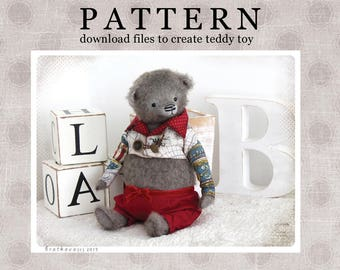 PATTERN Download to create Teddy like Bear William + PATTERNS frock-coat and  trousers