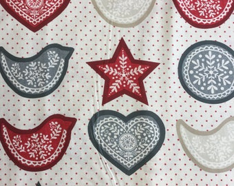 Makeower 1788 Scandi 4 Garland Panel  100% Cotton Fabric by the 60 cm panel