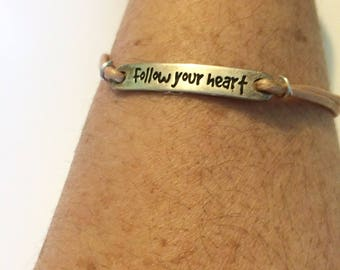 Follow Your Heart Leather bracelet