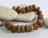 Sandy Path, Lampwork Spacer Beads, SRA, UK