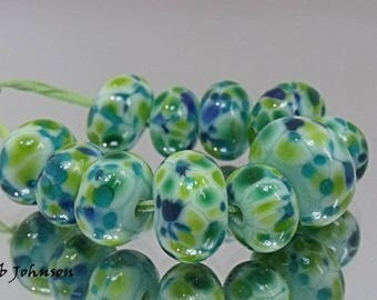 The Green, Artisan Lampwork Glass Beads, SRA, UK