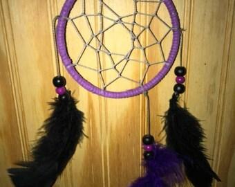 Small purple and black dreamcatcher